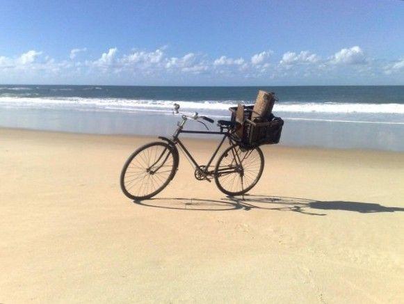 2008 Outside Edge expedition - Bike on a beach