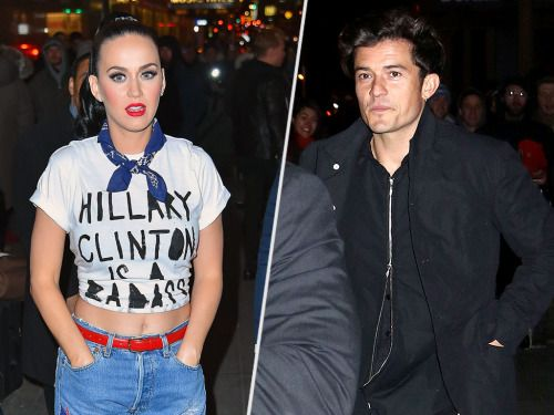 He's with Her! Orlando Bloom Supports Katy Perry at a N.Y.C. Fundraiser for…