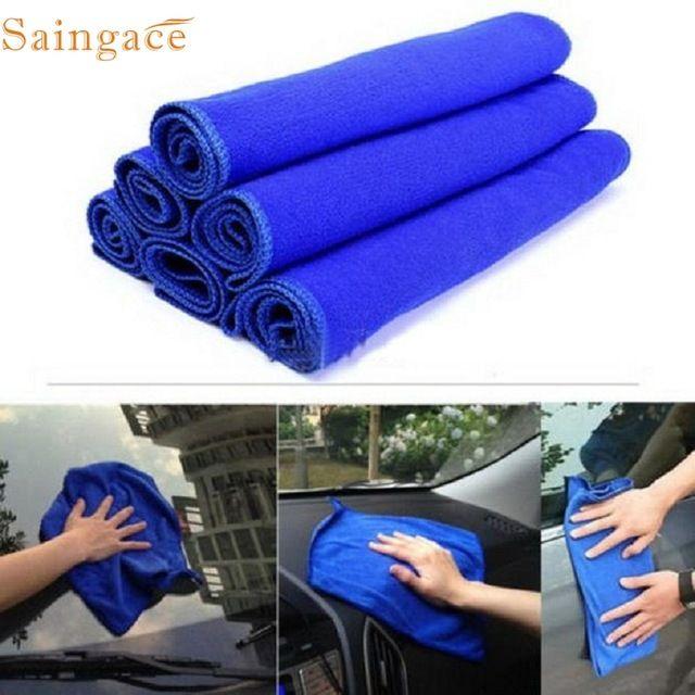 High Quality 30*30cm Soft Microfiber Cleaning Towel Car Auto Wash Dry Clean Polish Cloth Dropshipping