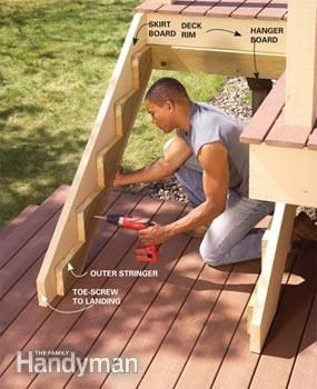 Start from step 6-want to build a new set of steps off the deck and then fence off the pool side for safety