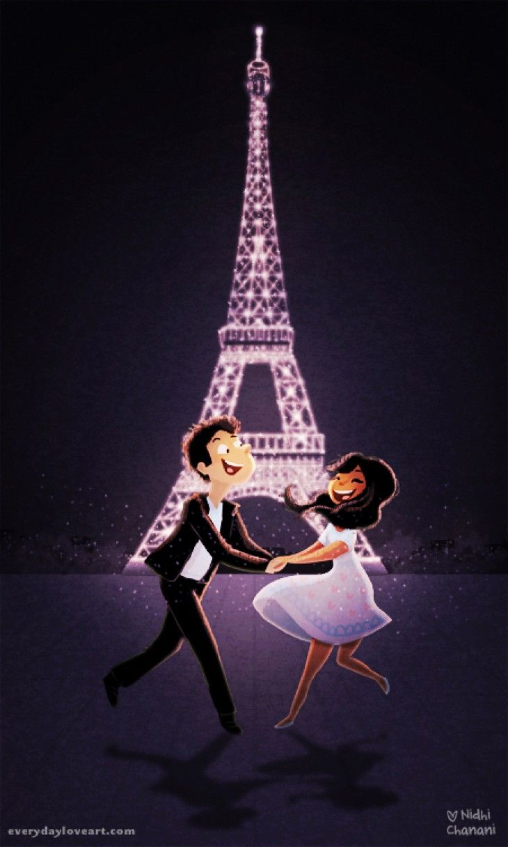Love in Paris - Nidhi Chanani  I want one of these prints!