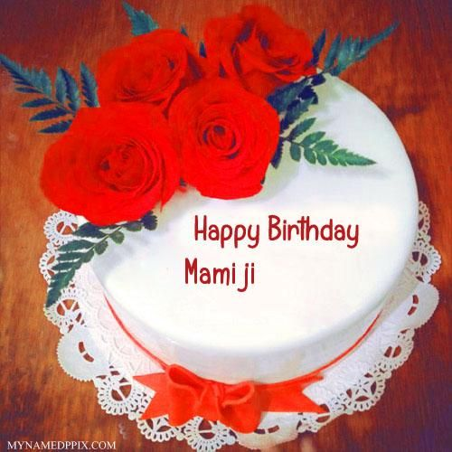 Red Rose Birthday Cake With Name Image With Images Happy