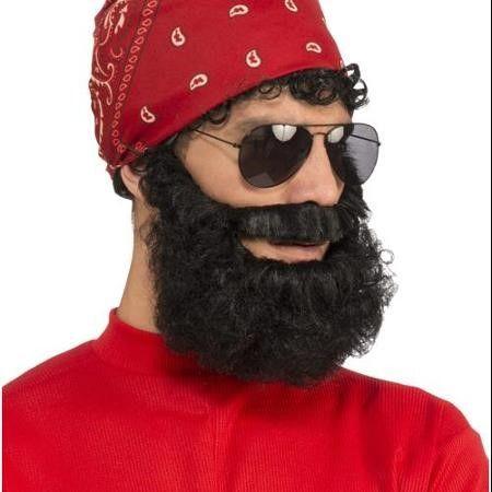 Adult Black Lumberjack Beard Costume Accessory