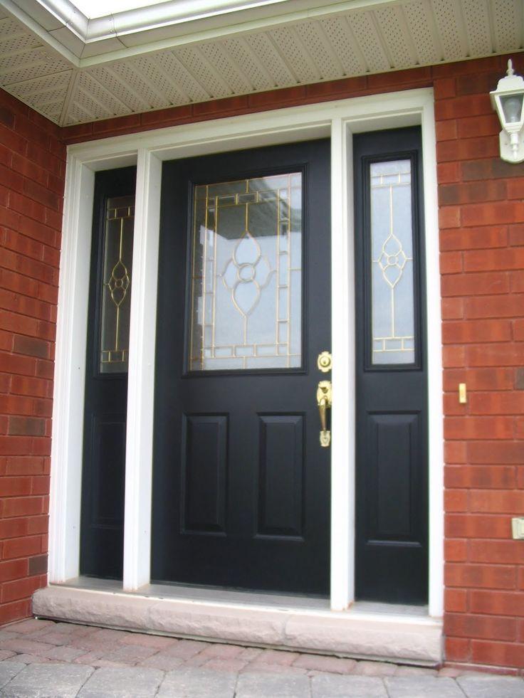 black+front+door+and+sidelights | Front Door Paint ...