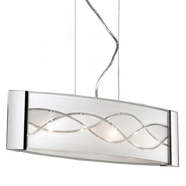 LAMPA wisząca OVER P29367-1 Italux szklana OPRAWA halogenowa biały