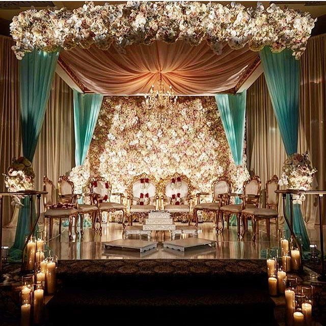 "6,187 Likes, 62 Comments - TheWeddingBrigade.com (@theweddingbrigade) on Instagram: ""Whites and Tiffany blues! This mandap is the stuff of dreams!  by @elegant.affairs at…"""
