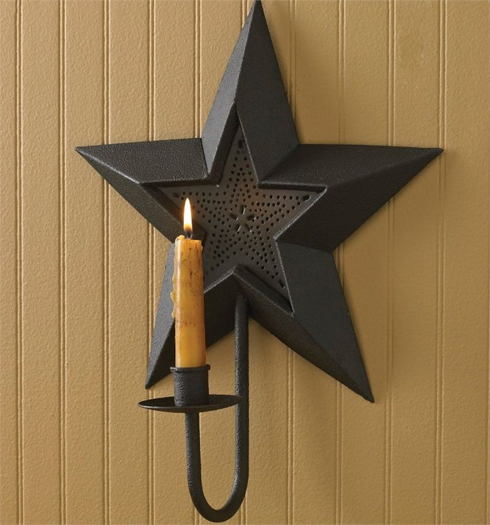 Country Wall Sconce Candle Holder : 23 best Country Candles images on Pinterest Candle holders, Taper candles and Country decor