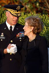 During the week-long events, each time Nancy Reagan appeared in public, she was escorted by U.S. Army Major General Galen B. Jackman