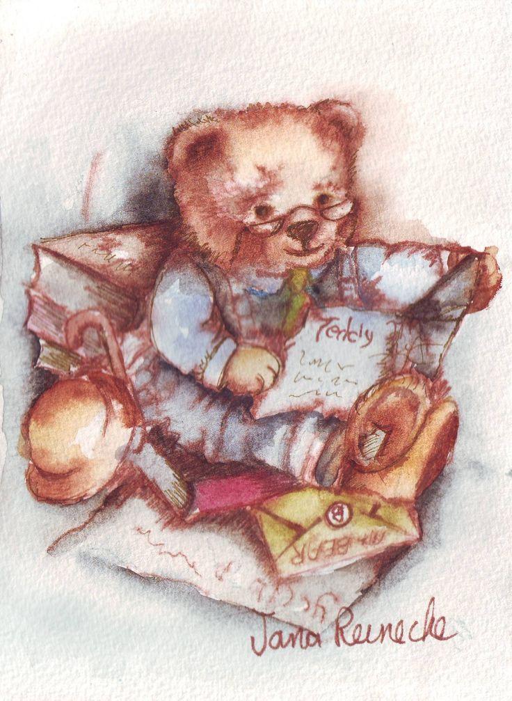 art.painting.teddie bears