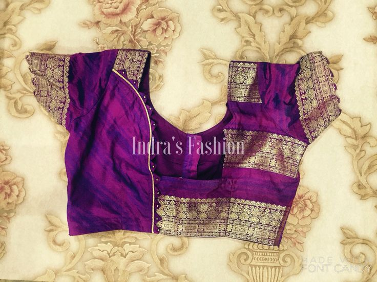 Saree blouse by Indra's Fashion House