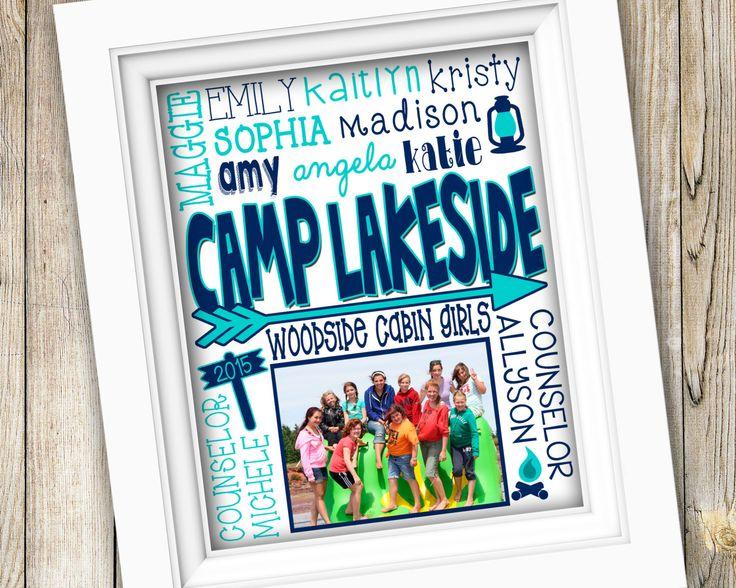Summer Camp Counselor Gift ~ Personalized Custom Printable Photo Subway Art ~ Digital Image JPEG ~ Summer Camp 2015 Gift Camp Memories Gift by SubwayStyle on Etsy