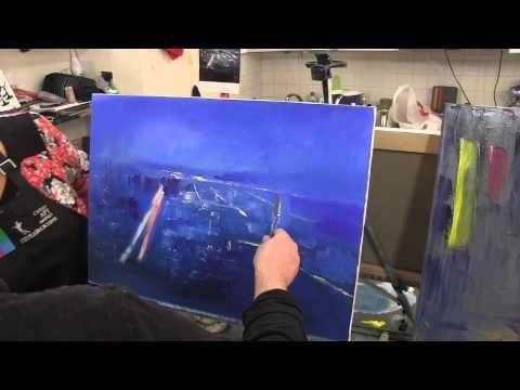 Ночной город,художник Игорь Сахаров, уроки рисования, живопись для начи...