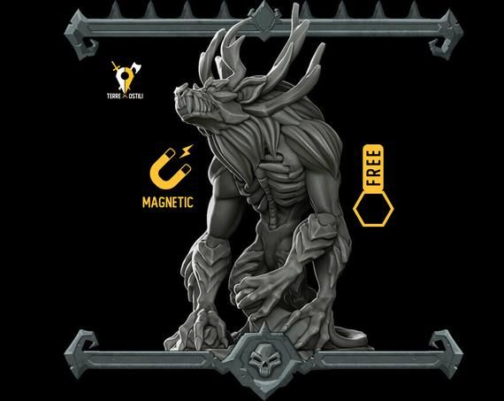 Firbolg in miniatura per DND PATHFINDER o qualsiasi RPG