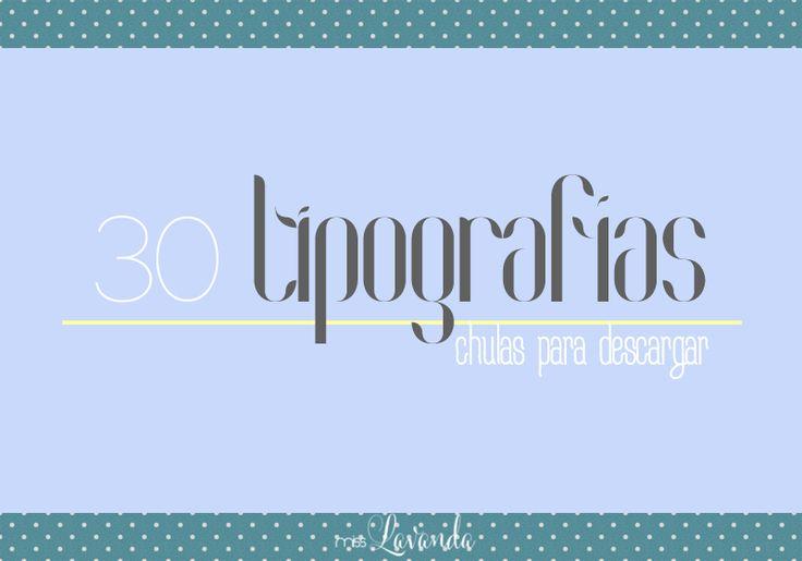 Recursos: 30 tipografías chulas | Miss Lavanda