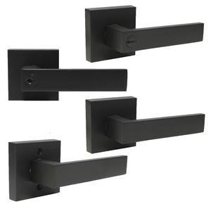 Black Door Handles Heavy Duty Keyed Keyed Alike Privacy Passage Dummy Door Lock Levers Dl01bk In 2020 Black Door Handles Cupboard Handles Modern Bathroom Renovations