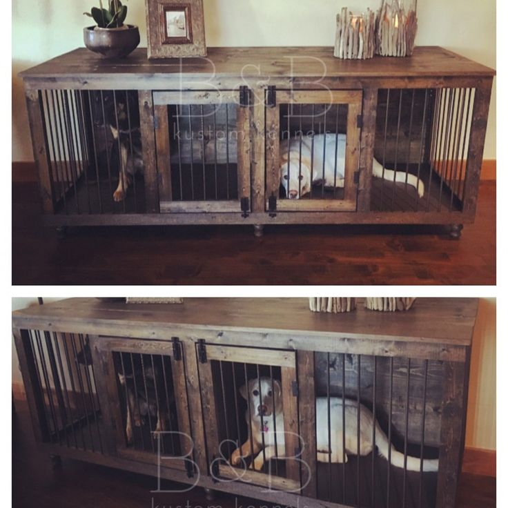 XL Coffee Double Photo I don't crate but this is an interesting way to offer a safe space for pups!