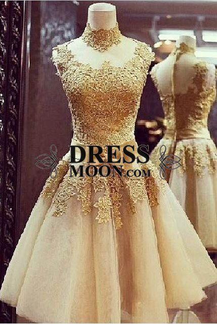 I like this - Gorgeous Handmade Flower Gold Short Vintage Formal Dress. Do you think I should buy it?