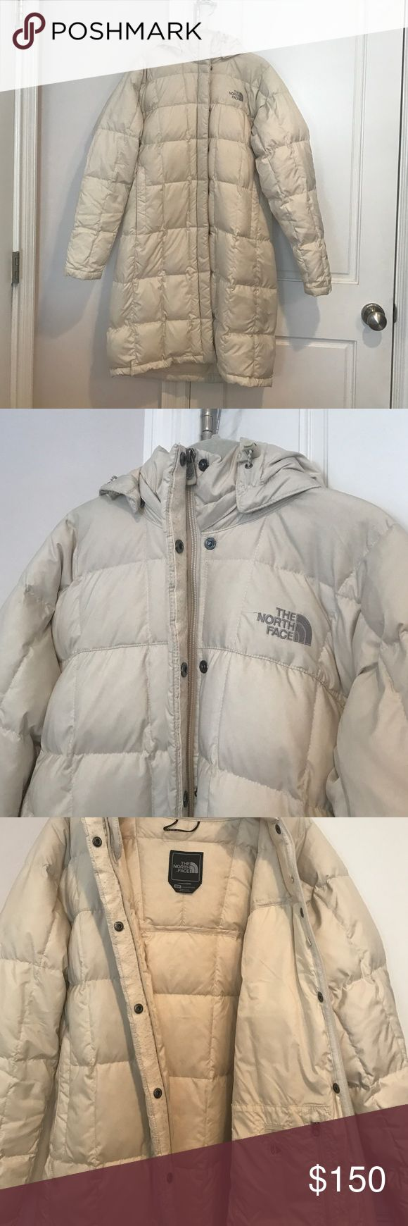 North Face Metropolis Parka North Face Metropolis Parka. Good condition, jacket shows some signs of wear, slight pilling on button flap lining. Very warm, down fill. Features two exterior and one zippered interior pocket. Hood is removable. North Face Jackets & Coats