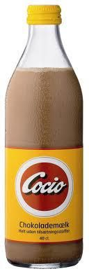 Cocio is a chocolate milk drink produced in Esbjerg, Denmark. While not a staple in Danish culture, Cocio is a well-known product to Danes, often consumed on the street with a sausage (mostly a hot dog).