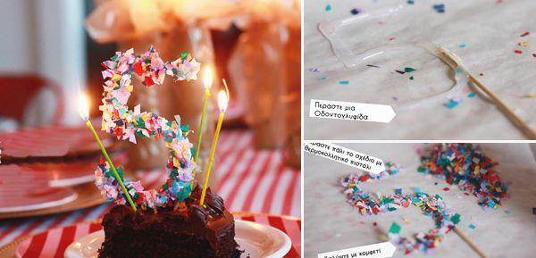Πώς να φτιάξουμε νούμερα και διακοσμητικά για τούρτες απο σιλικόνη και κομφετί! | Φτιάξτο μόνος σου - Κατασκευές DIY - Do it yourself