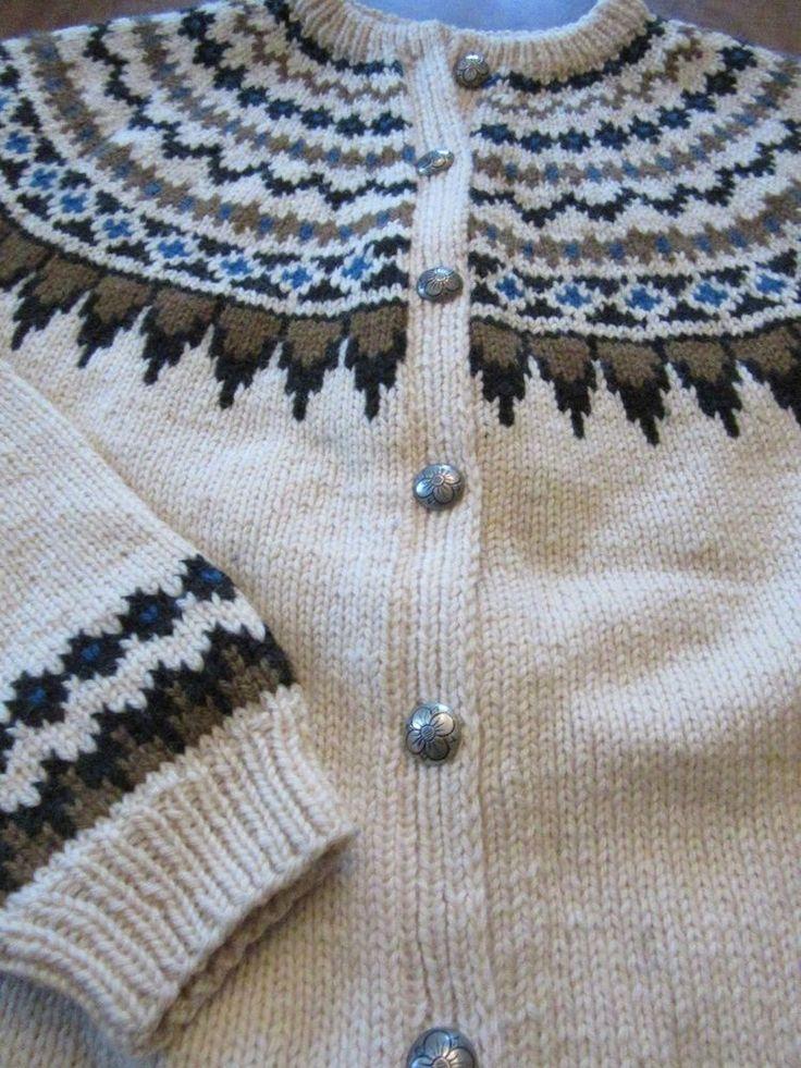 Vintage Saga Knit Made in Norway Nordic Handknit Wool Sweater Cardigan 1970s #sagaknit #Cardigan