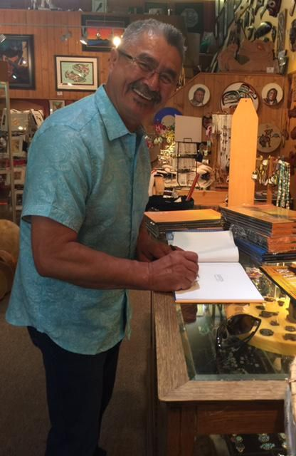Thankyou Roy Henry Vickers for visiting & signing your books we have available! @RHVickers @theFNFA #native #kelowna