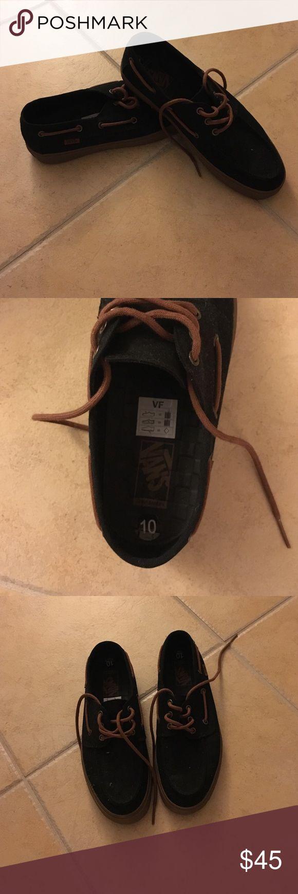 Vans Boat Shoes Black/Brown Vans Boat Shoes. Size: 10. New and never worn. Vans Shoes Boat Shoes
