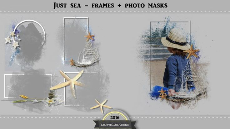 Just sea frames and photo masks by Graphic Creations