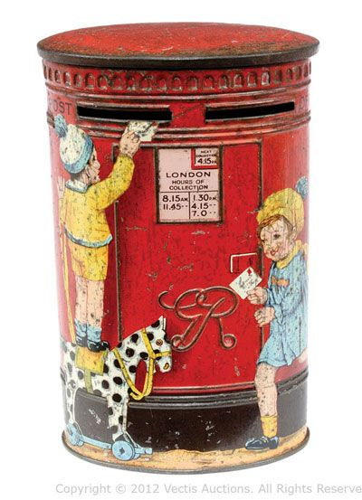1930S tinplate money box tin