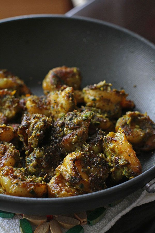 PRAWNS GREEN MASALA [India] [tikkaa] [shrimp prawn]