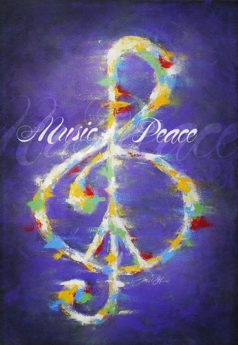 Music is peace and peace is music blaring so loud that I can't hear all those voices in my head screaming wait Ashlie come back! Even though she doesn't. Ashlie Marie Terry!
