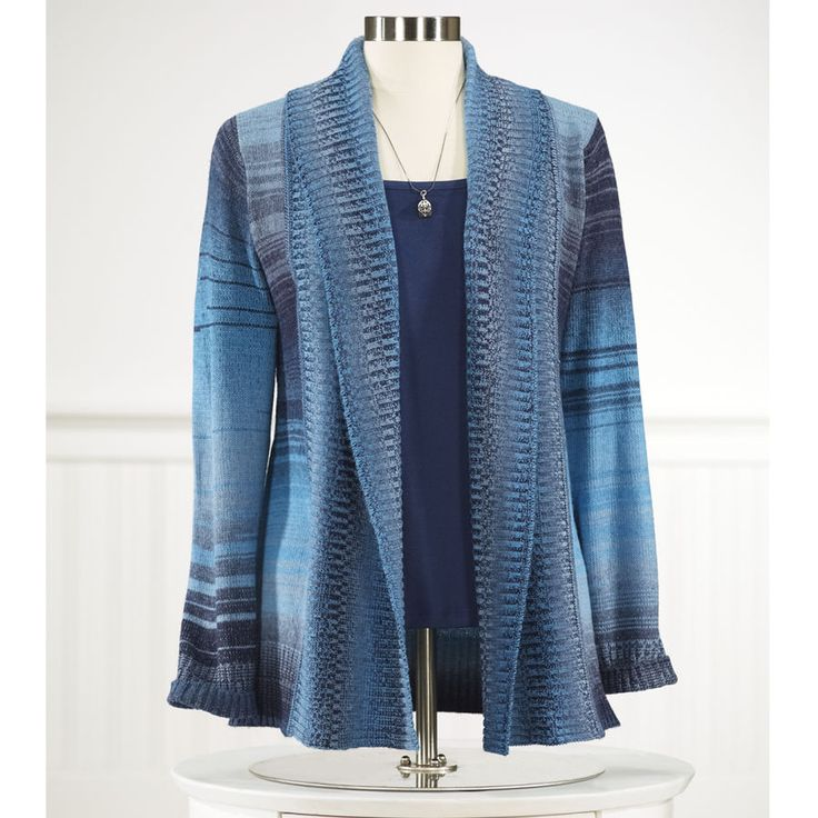 Space Dye Striped Cardigan Women S Clothing Unique Boutique Styles Classic Wardrobe