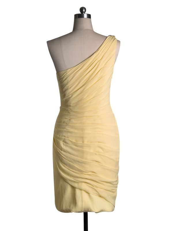 Beaded Yellow Short Dress for Wedding Guest or Formal Occasions 2