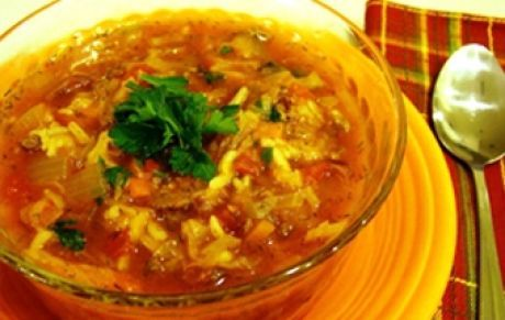 Суп с рисом и мясным фаршем / Мясные супы / TVCook: пошаговые рецепты с фото