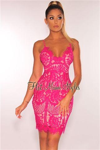 3f6a8f4b9f4 Nude Mesh Iridescent Rhinestone CrissCross Dress