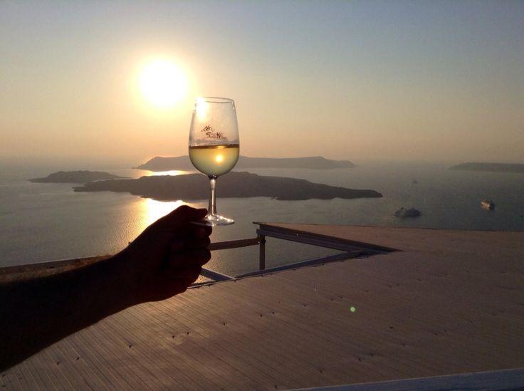 Santo vinery. Santorini. Greece.