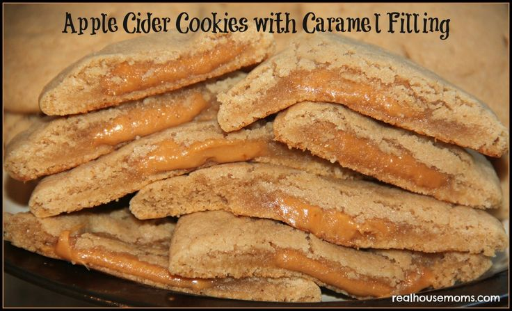 Apple Cider Cookies with Caramel Filling will be gone as fast as you can bake them!
