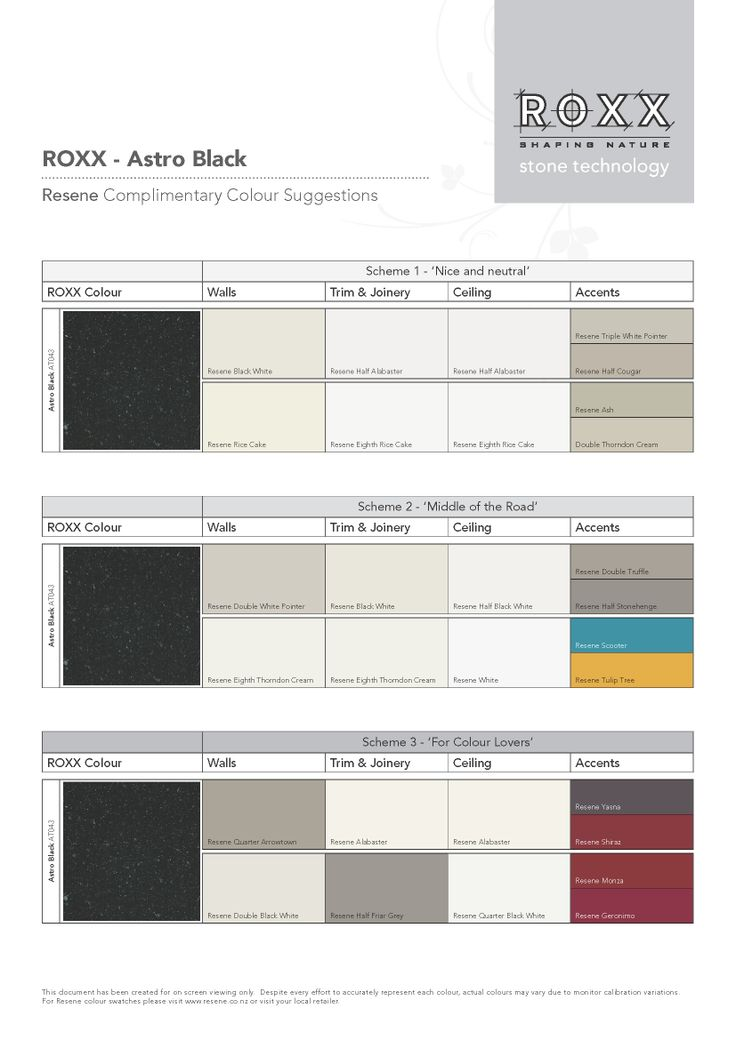 Looking for inspiration - ROXX Complimentary Colours