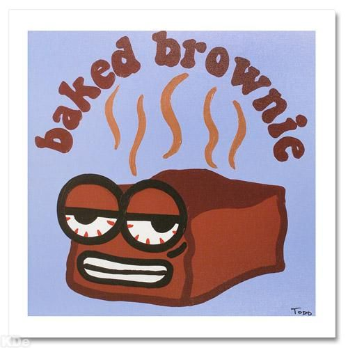 """""""Baked Brownie"""" Extremely LIMITED EDITION Giclee on Canvas by Renowned Pop Artist Todd Goldman"""