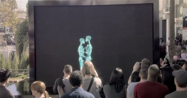Skeletons Hug, Kiss, And Dance Before A Crowd. When They Step Out From The Screen? I'm Smiling.