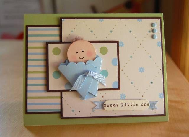 Easy baby in a blanket - Babykaart - Volgens mij is het dekentje van de baby gemaakt met de ronde schulpmal.