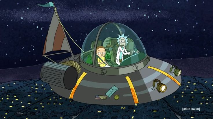 rick and morty flying saucer - Google Search