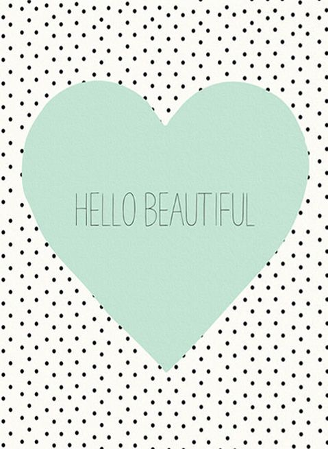 Allyson Johnson Hello Beautiful Heart Gallery Wrapped Canvas