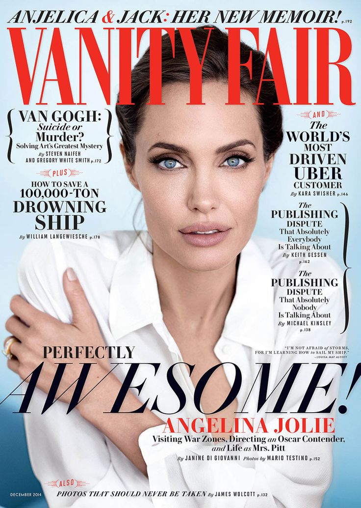 """Angelina Jolie Opens Up About Her Wedding and Marriage to Brad Pitt: """"It Feels Nice to Be Husband and Wife""""  Angelina Jolie, Vanity Fair"""