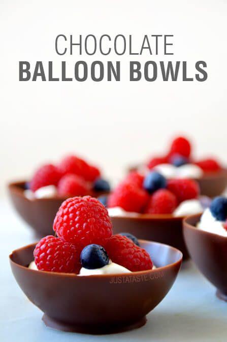 Video: Chocolate Balloon Bowls on justataste.com
