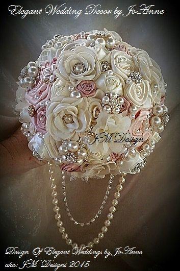 RAMO de boda con piedras preciosas el por Elegantweddingdecor