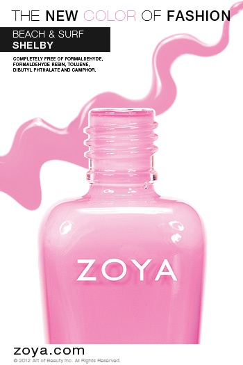 RE-PIN ME! Zoya Nail Polish in Shelby from the Beach Collection --- I have this shade and I love it. It will be my go to for the summer!