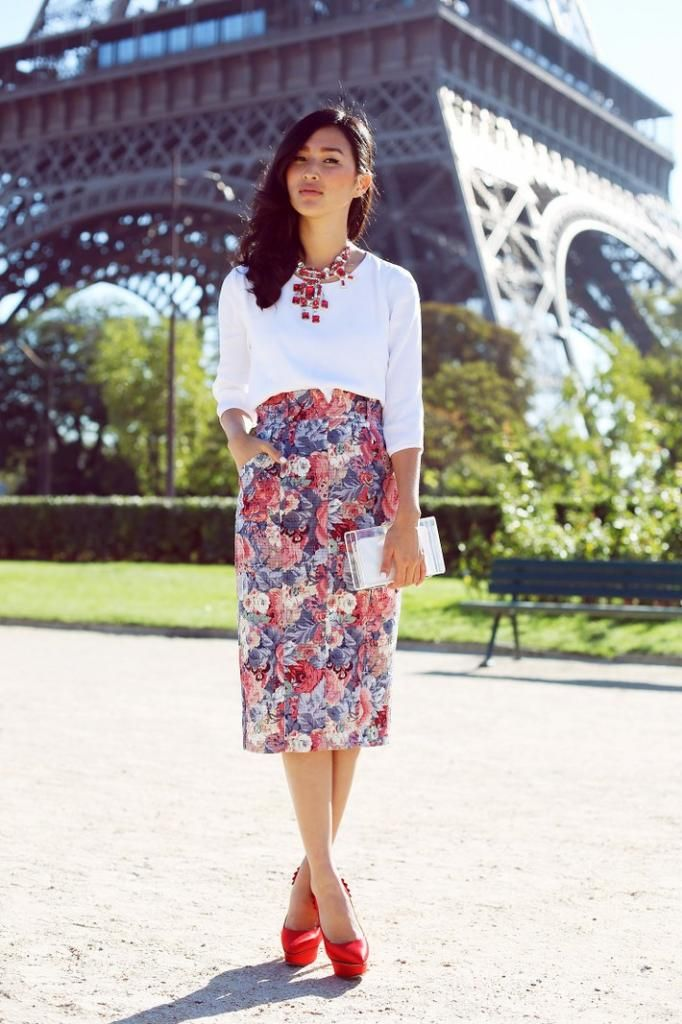 Bright and colorful skirt for creative office!