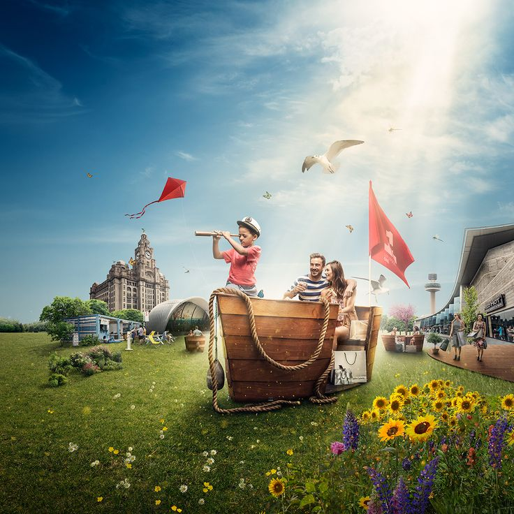 A composite image we created for Liverpool One shopping mall. Photography by Guy Farrow / stock.