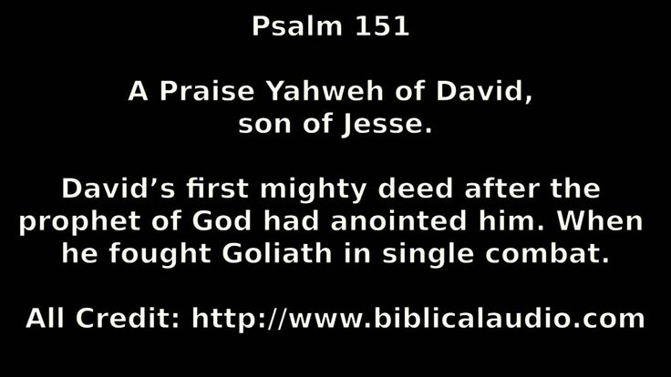 Image result for Psalm 151